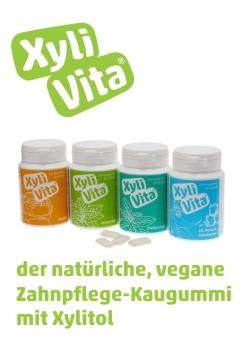 XyliVita - der natürliche, vegane Zahnpflegekaugummi mit Xylitol aus europäischer Birke und Buche